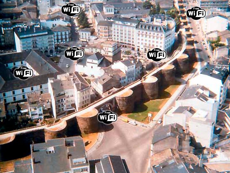 Puntos de acceso wifi centro