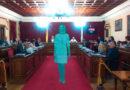 Lara Méndez se queda atrapada en Pedrafita por el temporal y preside un pleno del Ayuntamiento en modo de holograma