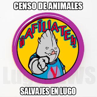 Censo de animales salvajes en Lugo