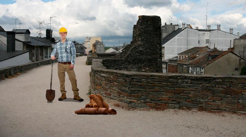 El Ayuntamiento creará un puesto de trabajo para recoger en la Muralla las cacas de perro excesivamente grandes