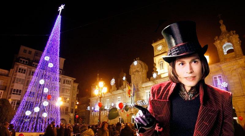 Willy Wonka se querellará contra el Ayuntamiento ante la chocolatada popular para celebrar el encendido navideño