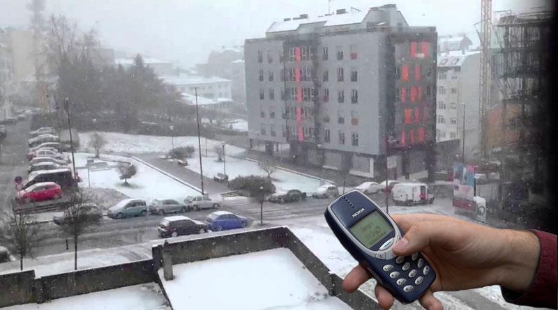 Un vecino de Lugo afirma no haberse enterado de las primeras nevadas porque no tiene Smartphone