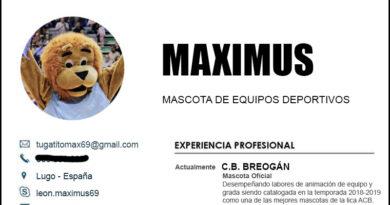 Maximus, la actual mascota del CB Breogán, envía su Curriculum al CD Lugo