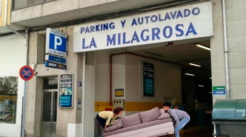Varios okupas intentan hacerse con el control del parking precintado de A Milagrosa para construir su propia urbanización