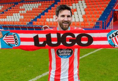 Messi confirma su salida del Barça, ficha por el CD Lugo y afirma que lo llevará a primera