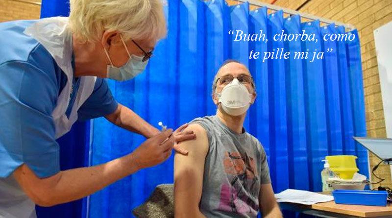 El primer lucense vacunado contra el COVID comienza a hablar coruñés pocas horas después de recibir la vacuna