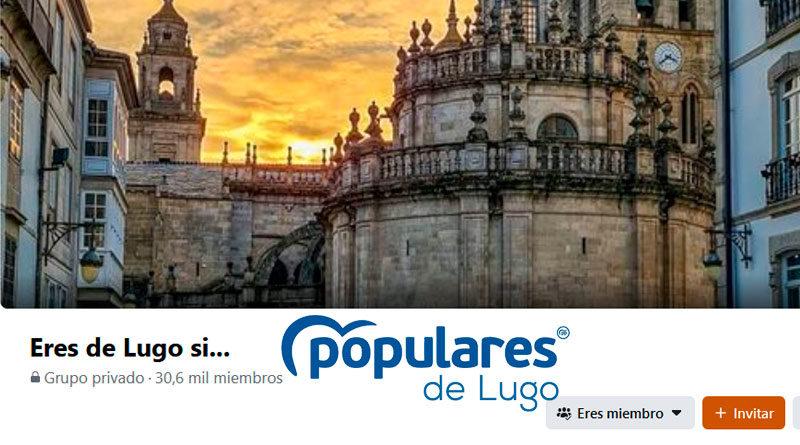 El PP de Lugo compra los derechos de administración del grupo de Facebook 'Eres de Lugo si…'